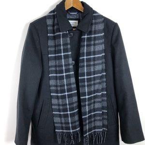 Dockers Men's Black Pea Coat Size M